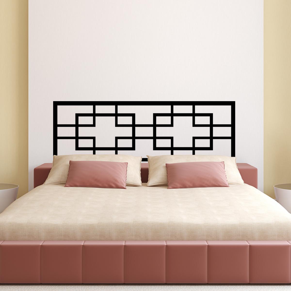stickers muraux t tes de lit sticker mural arr s lit double ambiance. Black Bedroom Furniture Sets. Home Design Ideas