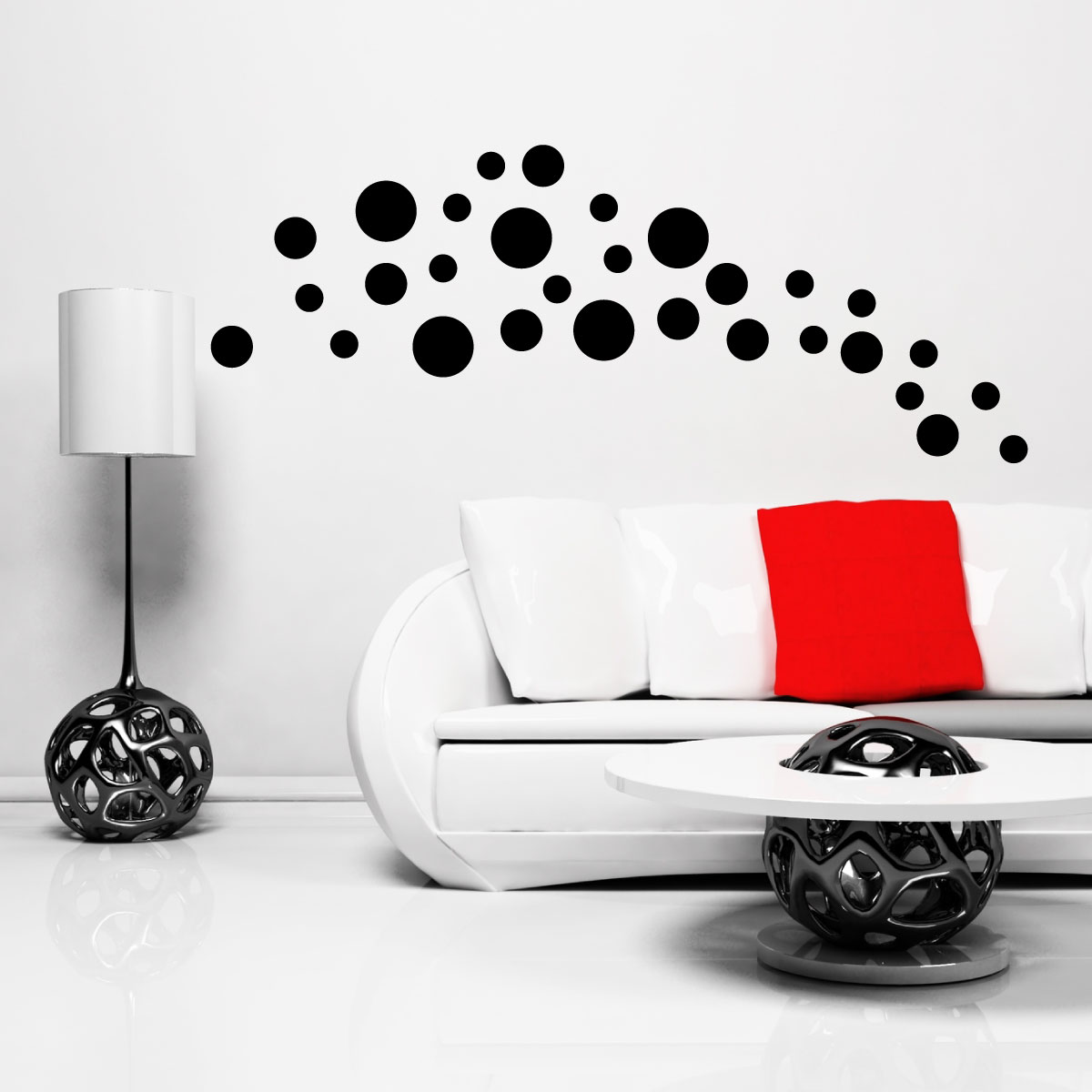 stickers muraux design sticker mural 30 points en 3 tailles ambiance. Black Bedroom Furniture Sets. Home Design Ideas