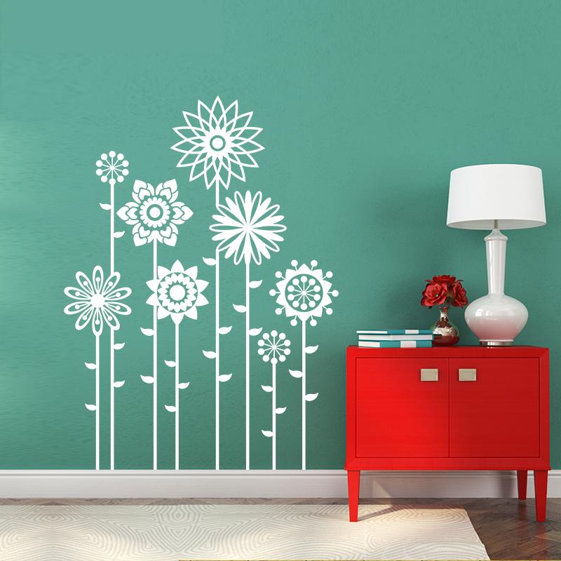 sticker 8 vari t s de fleurs stickers nature fleurs ambiance sticker. Black Bedroom Furniture Sets. Home Design Ideas