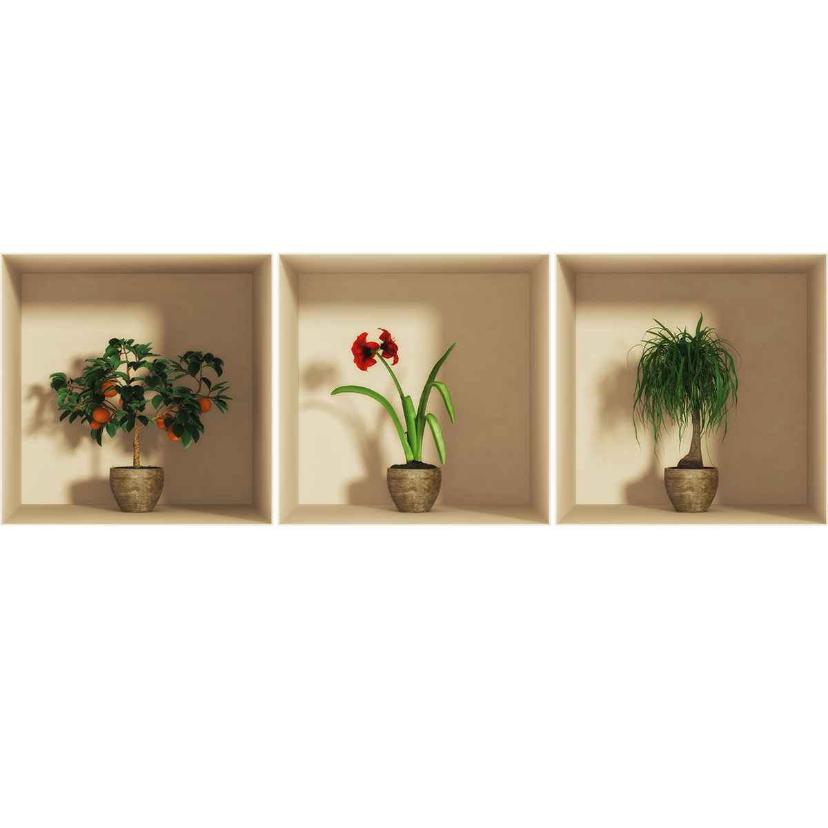 sticker effet 3d mandarinier fleur et plante stickers nature fleurs ambiance sticker. Black Bedroom Furniture Sets. Home Design Ideas