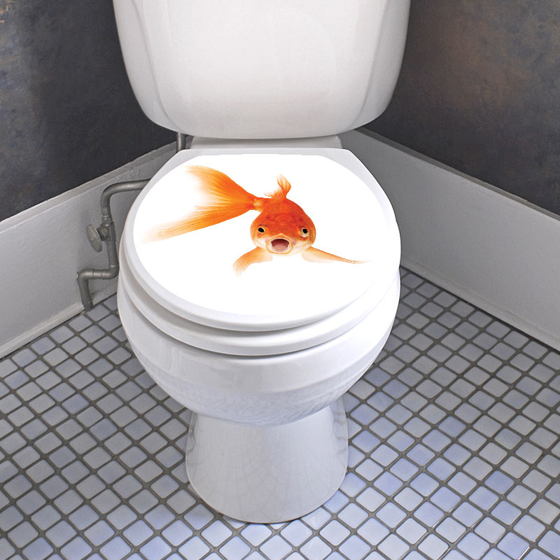 Sticker abattant toilette poisson d or stickers - Stickers abattant wc ...