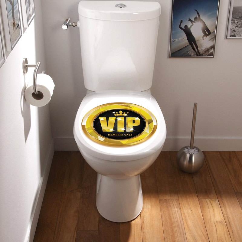 sticker abattant toilette vip stickers toilettes. Black Bedroom Furniture Sets. Home Design Ideas