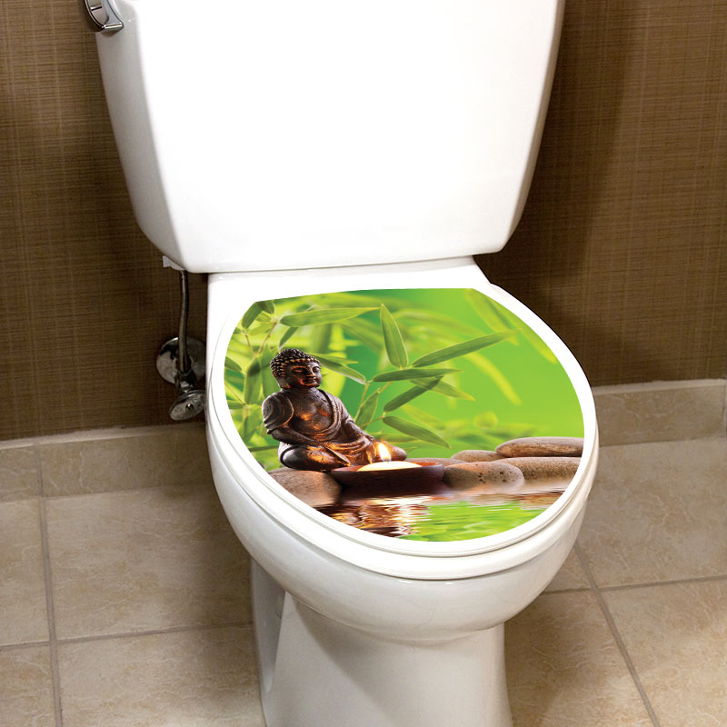 Sticker abattant wc ambiance zen avec bouddha stickers toilettes abattants wc ambiance sticker - Stickers abattant wc ...