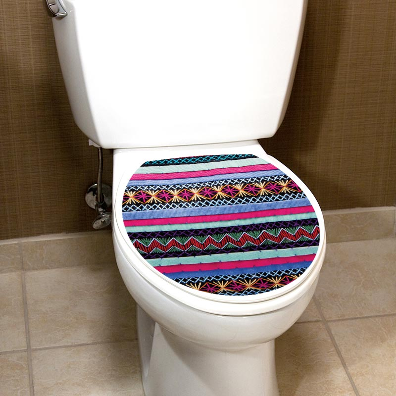 Sticker abattant wc effet tapis vintage – Stickers Toilettes ...