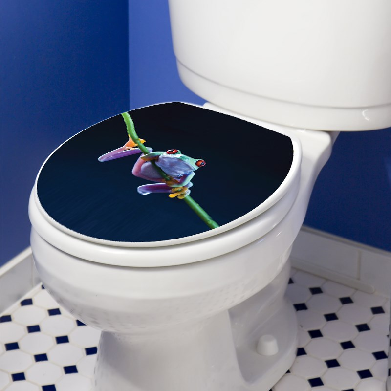 sticker abattant wc grenouille exotique stickers toilettes abattants wc ambiance sticker. Black Bedroom Furniture Sets. Home Design Ideas