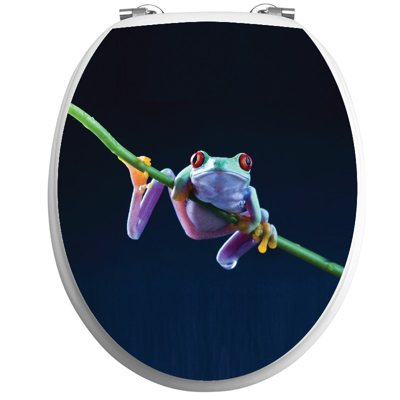 Sticker abattant wc grenouille exotique stickers - Stickers abattant wc ...