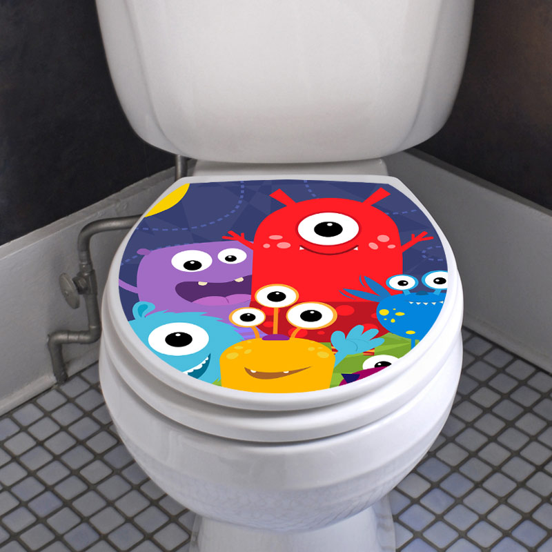 Sticker Abattant Wc Petits Monstres – Stickers Toilettes Abattants