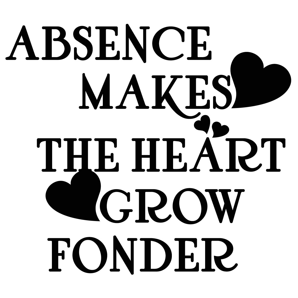 absence make the heart grow fonder essay Short stories absence makes the heart grow fonder as i was scrolling down the internet, i saw the phrase absence makes the heart grow fonder.