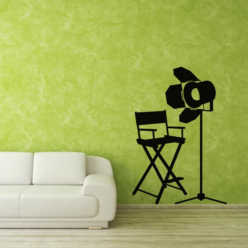 stickers muraux cin ma sticker outil de tournage ambiance. Black Bedroom Furniture Sets. Home Design Ideas