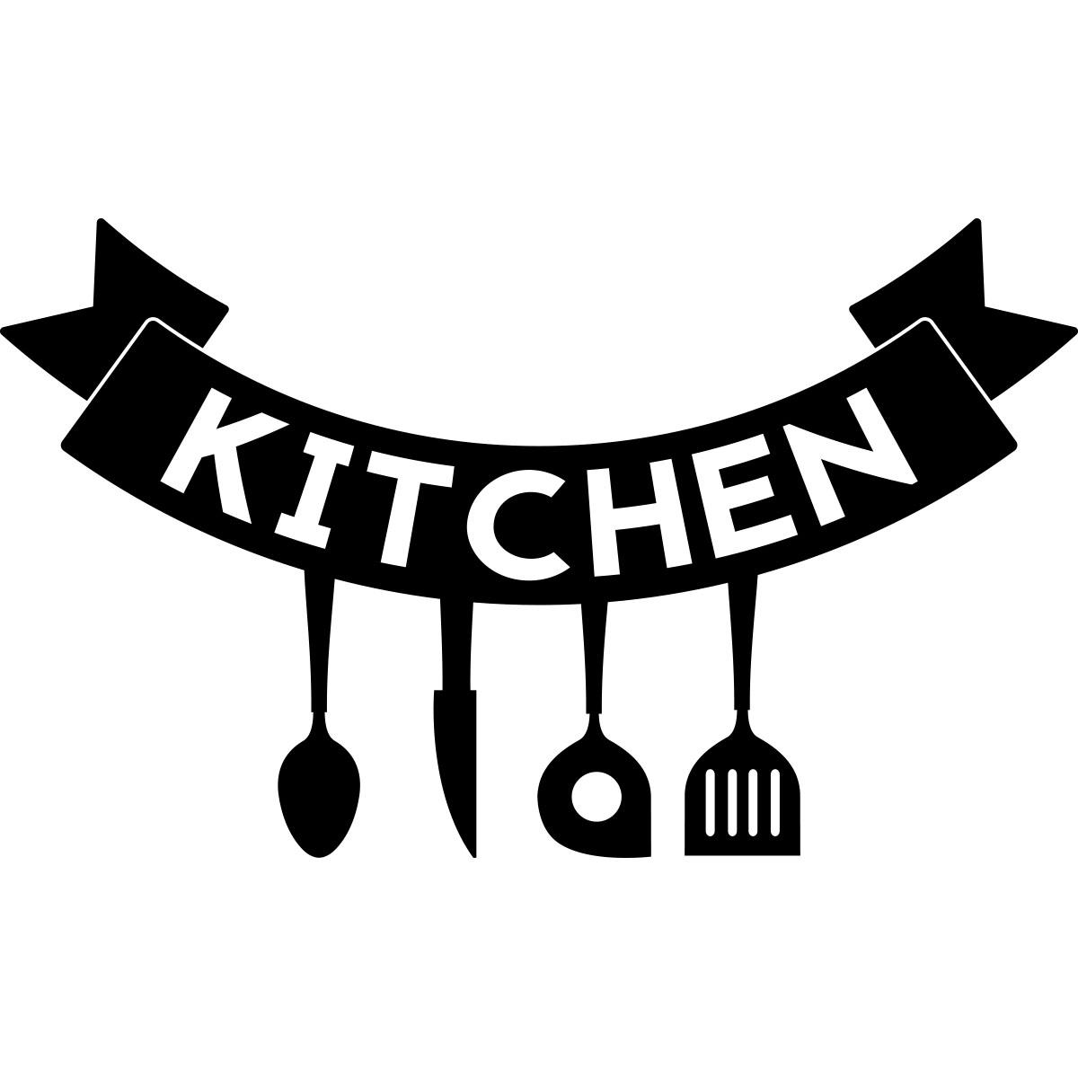 Sticker affiche kitchen stickers cuisine textes et for Affiche pour cuisine
