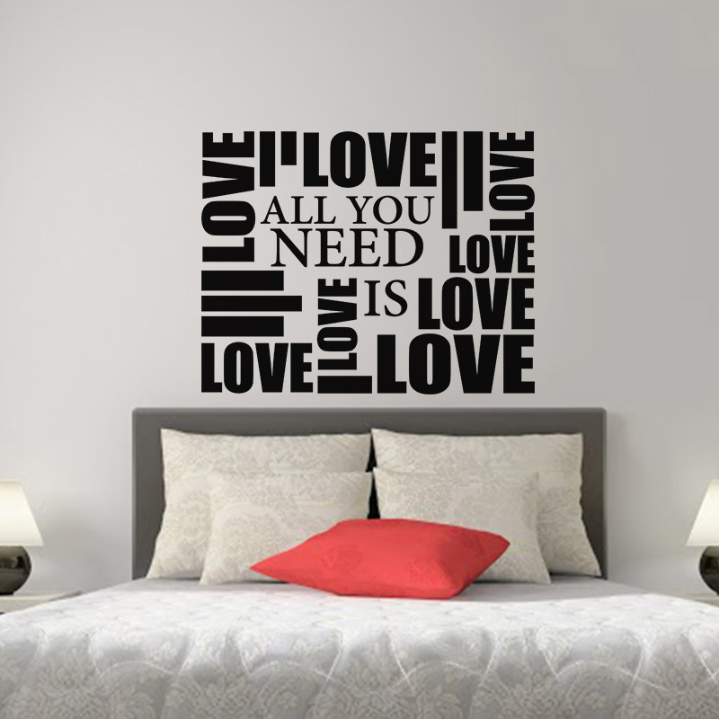 Sticker all you need is love ii stickers chambre t tes for Stickers chambre love