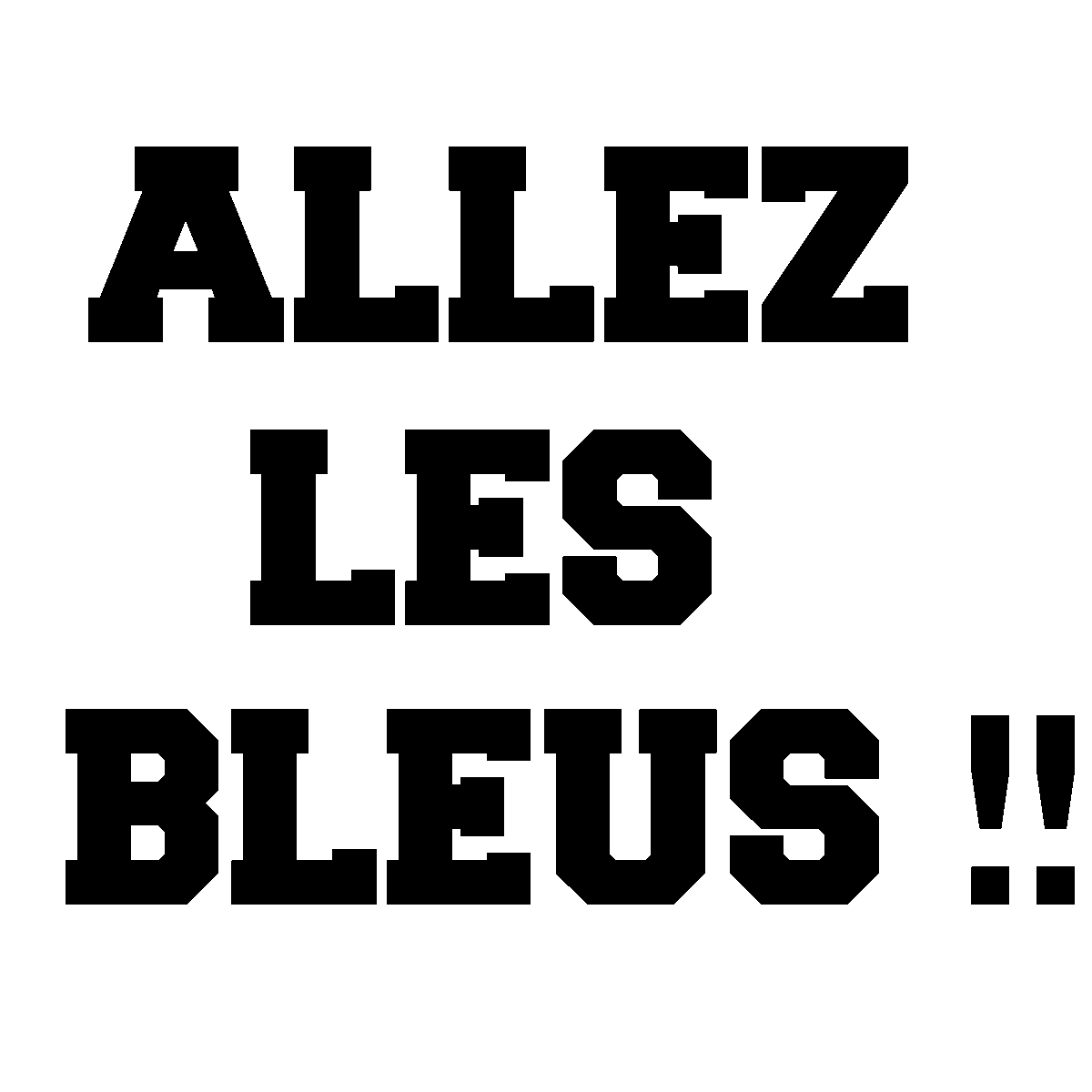 sticker allez les bleus stickers citations fran ais ambiance sticker. Black Bedroom Furniture Sets. Home Design Ideas