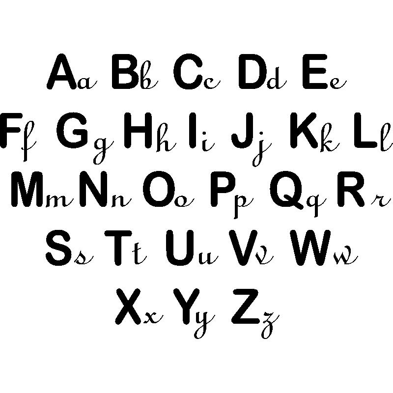 sticker alphabet pour enfant stickers filles citations. Black Bedroom Furniture Sets. Home Design Ideas