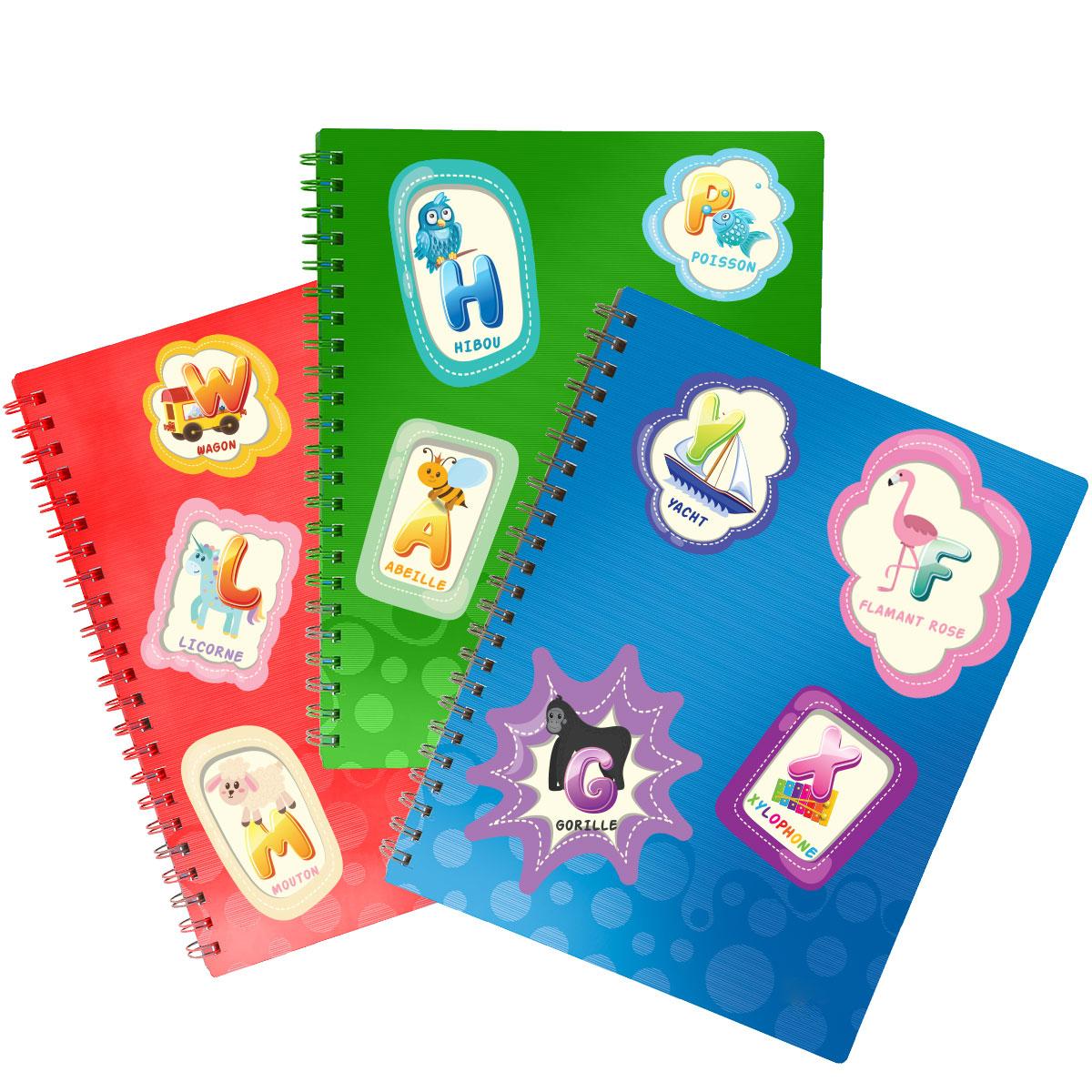 sticker alphabet pour les enfants stickers animaux. Black Bedroom Furniture Sets. Home Design Ideas