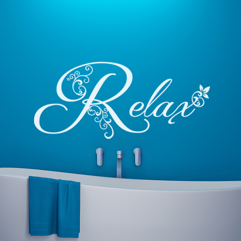 sticker ambiance relax stickers salle de bain et wc salle de bain ambiance sticker. Black Bedroom Furniture Sets. Home Design Ideas