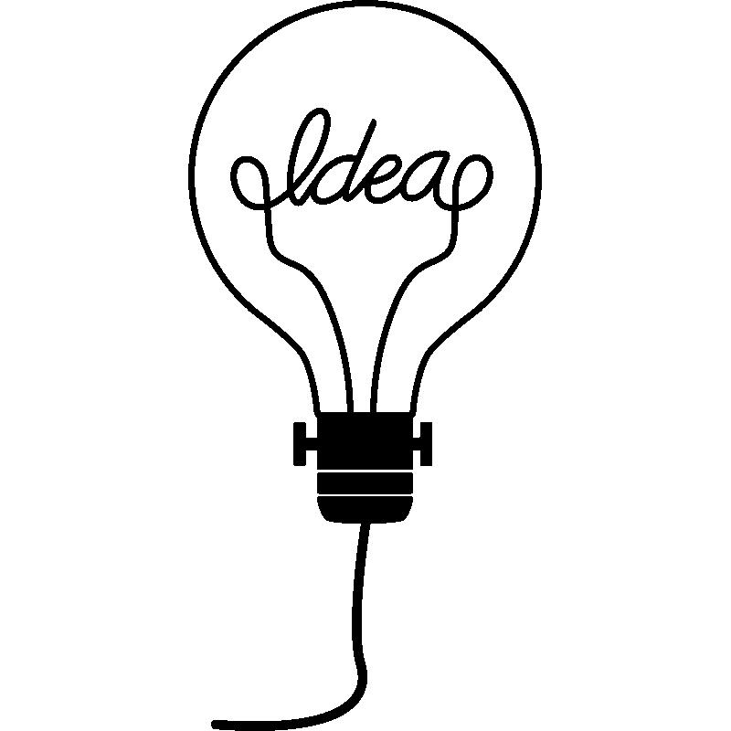 sticker ampoule id e stickers mini stickers fun. Black Bedroom Furniture Sets. Home Design Ideas