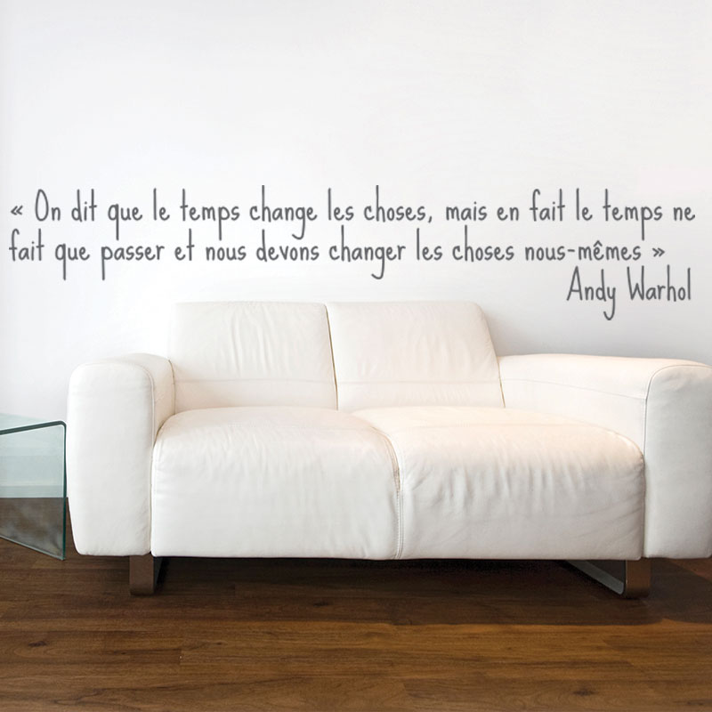 Stickers muraux citations sticker mural le temps for Stickers muraux citations chambre