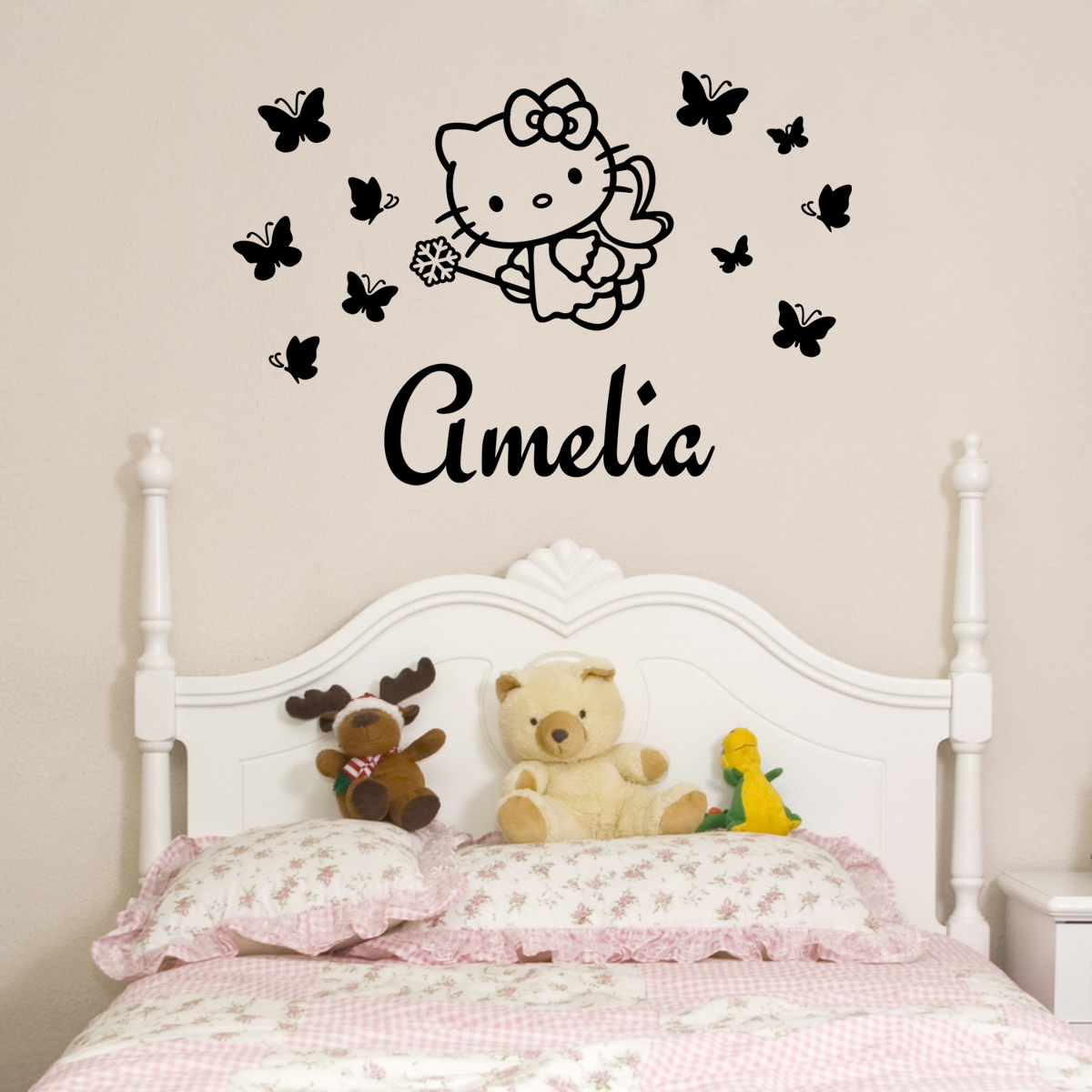 stickers muraux pour les enfants sticker personnalis ange kitty ambiance. Black Bedroom Furniture Sets. Home Design Ideas