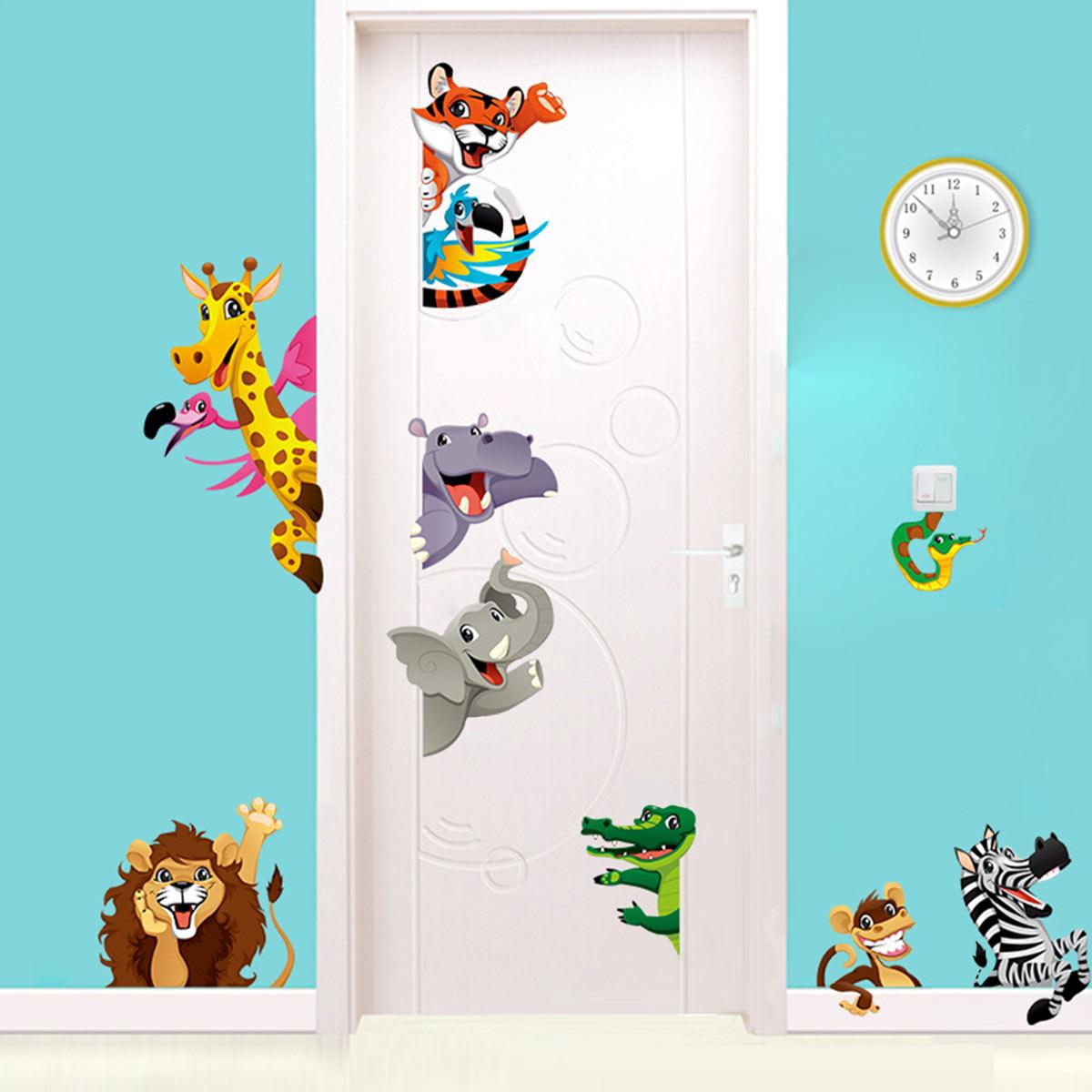 sticker animaux de la savane pour enfants stickers animaux oiseaux ambiance sticker. Black Bedroom Furniture Sets. Home Design Ideas