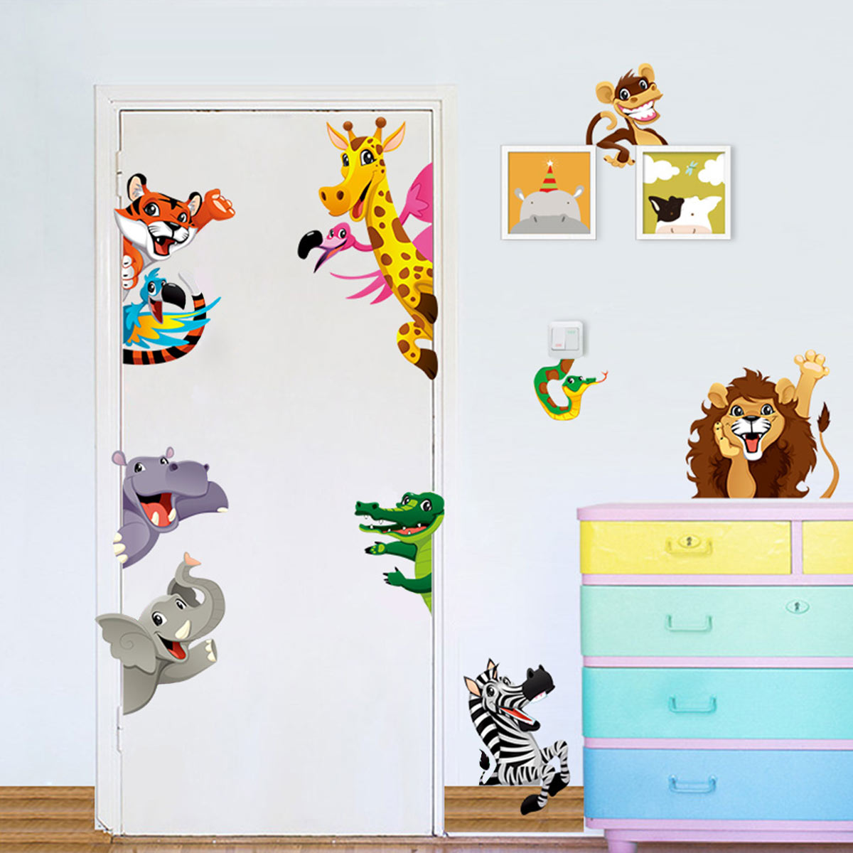 sticker animaux de la savane pour enfants stickers animaux oiseaux ambiance sticker. Black Bedroom Furniture Sets. Home Design Ideas