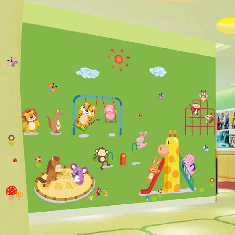 Sticker animaux du cirque avec giraffe et lion stickers for Carrelage 90x60