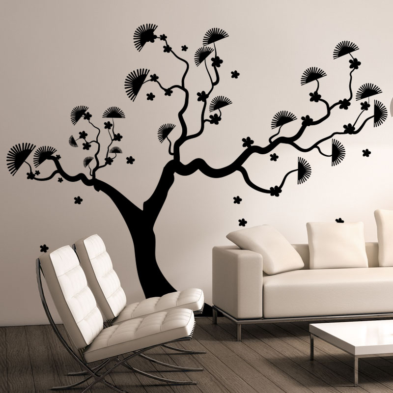 sticker arbre asiatique stickers nature arbres ambiance sticker. Black Bedroom Furniture Sets. Home Design Ideas
