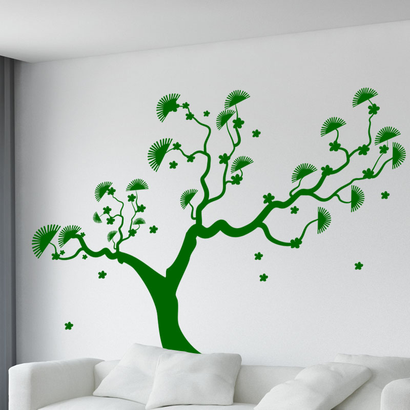 sticker arbre asiatique stickers nature arbres. Black Bedroom Furniture Sets. Home Design Ideas