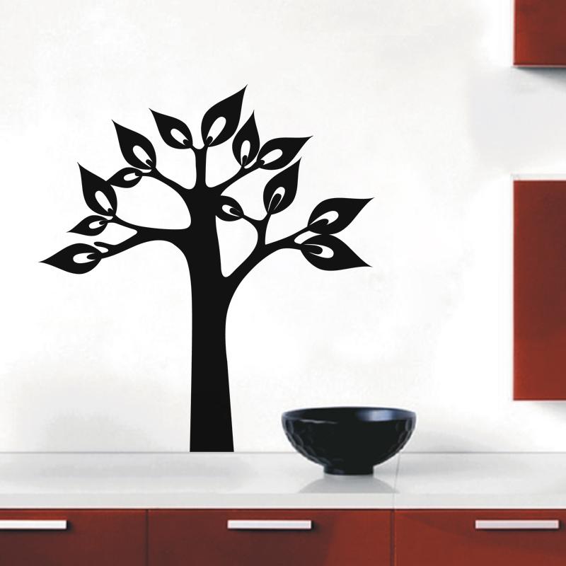 stickers muraux fleurs sticker arbre avec grandes feuilles ambiance. Black Bedroom Furniture Sets. Home Design Ideas