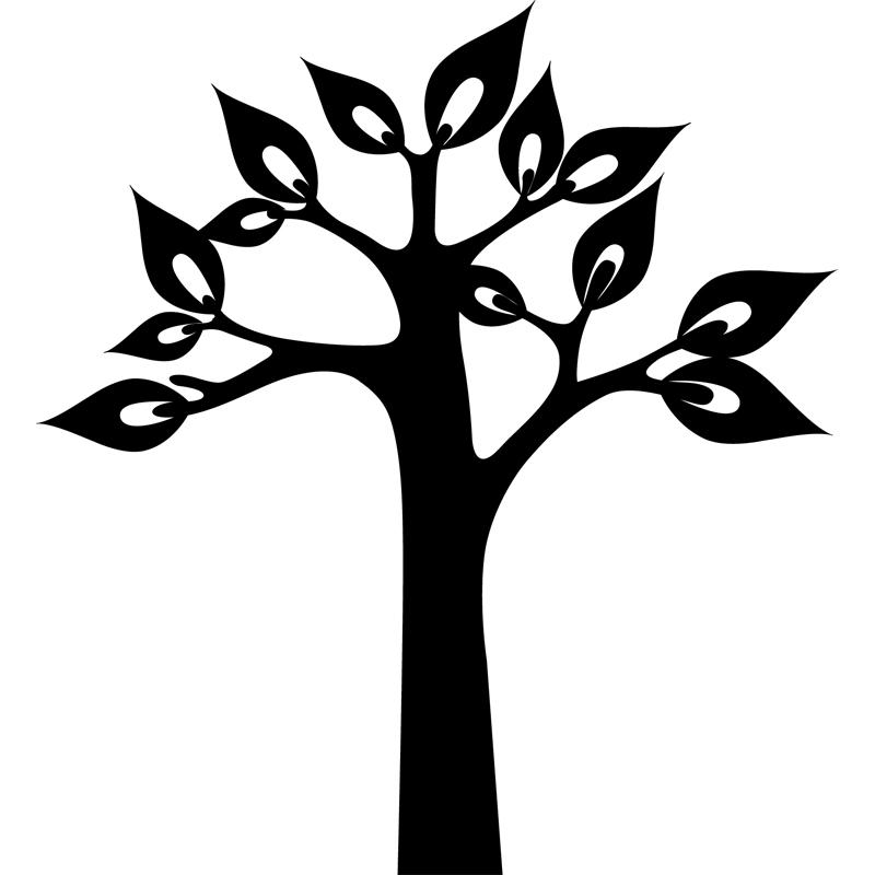 stickers muraux fleurs sticker arbre avec grandes. Black Bedroom Furniture Sets. Home Design Ideas