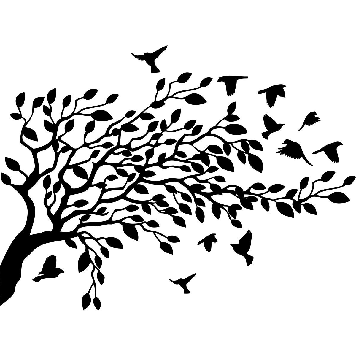 Bird And Tree Wall Stickers Image D Arbre D Automne Fashion Designs