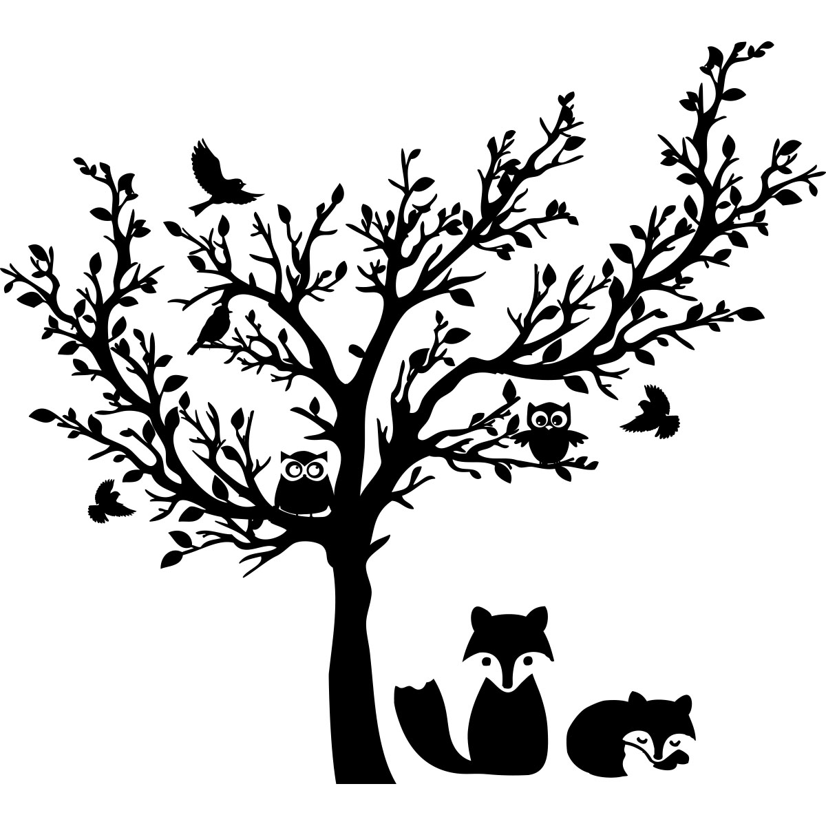 Sticker Arbre Des Animaux Stickers Nature Arbres Ambiance Sticker
