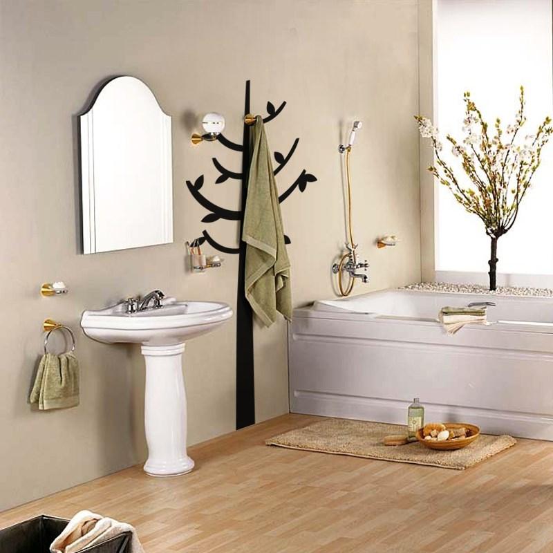stickers pour salle de bain arbre droit ambiance. Black Bedroom Furniture Sets. Home Design Ideas