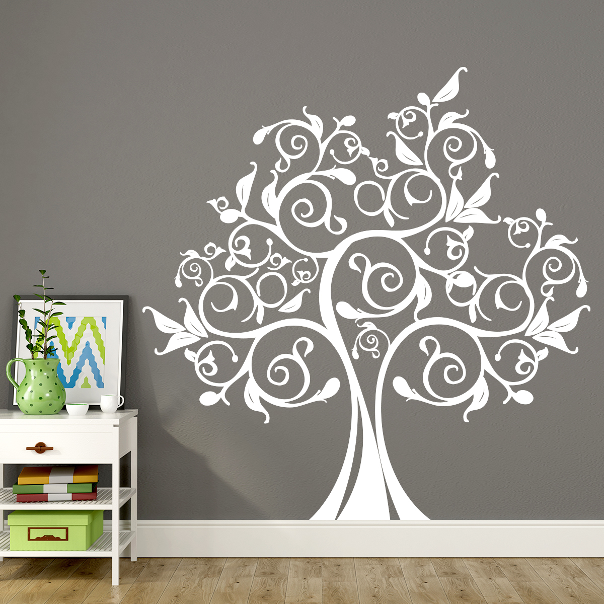 Sticker Arbre Et Feuilles Design Stickers Nature Arbres Ambiance