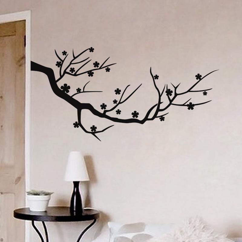Stickers muraux fleurs sticker arbre florissant - Stickers muraux arbre ...