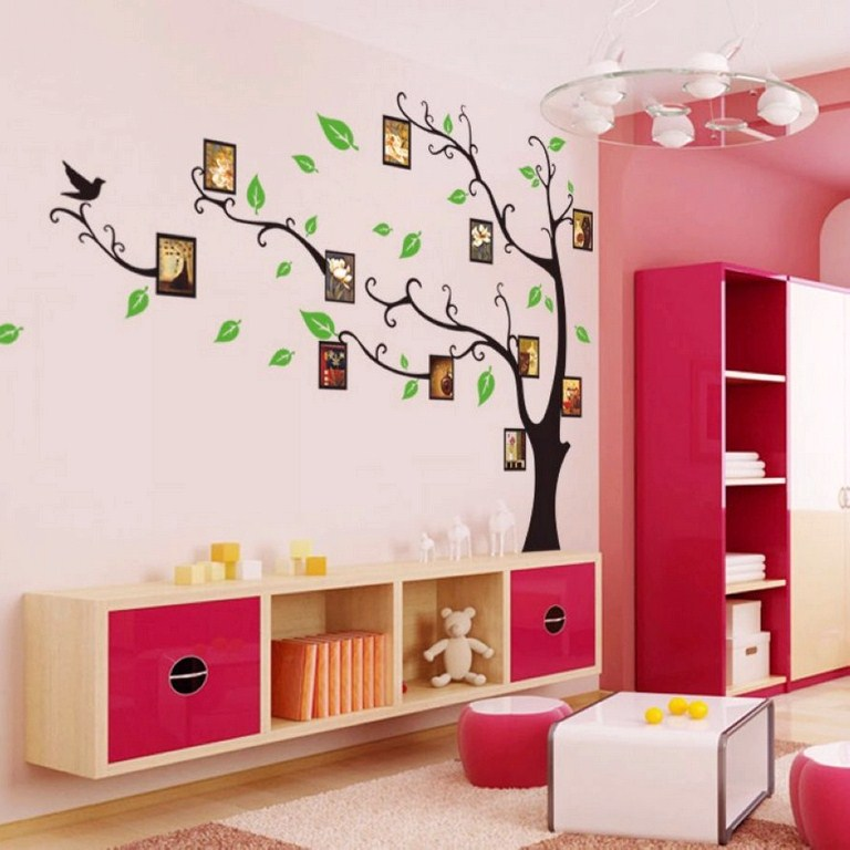 sticker arbre porte cadres. Black Bedroom Furniture Sets. Home Design Ideas