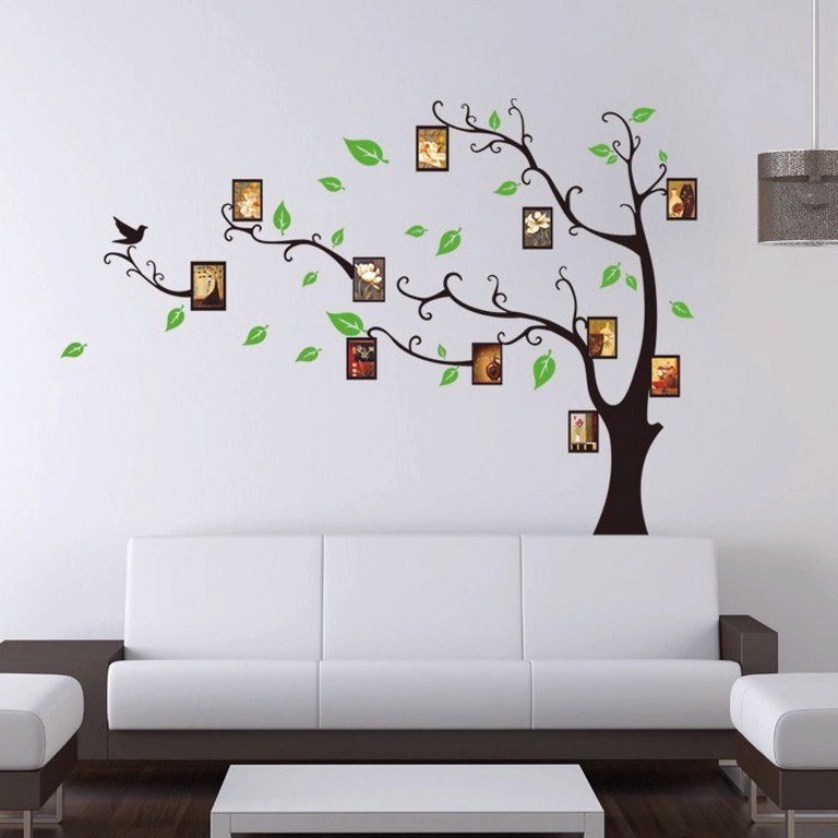 sticker arbre porte cadres. Black Bedroom Furniture Sets. Home Design Ideas