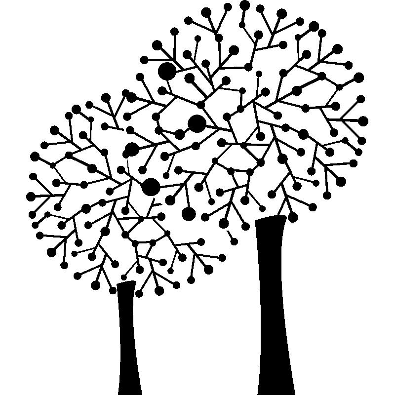 stickers muraux fleurs sticker arbres sans feuilles ambiance stickercom - Arbre Sans Feuille