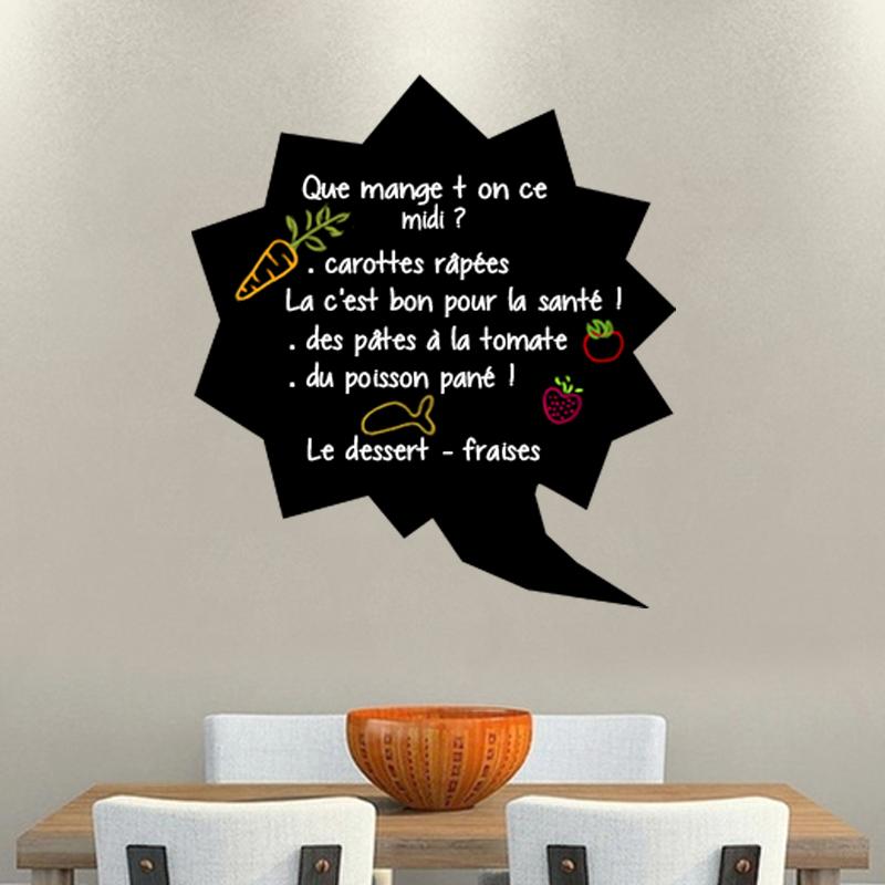 sticker ardoise bulle artistique stickers cuisine ambiance sticker. Black Bedroom Furniture Sets. Home Design Ideas