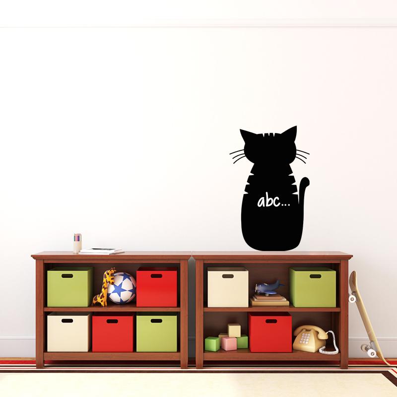 sticker ardoise caricature chat stickers salle de jeux. Black Bedroom Furniture Sets. Home Design Ideas
