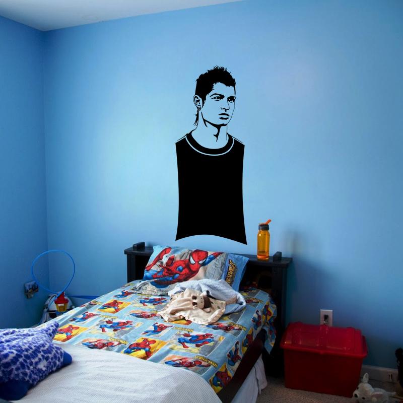sticker ardoise christiano ronaldo stickers salle de. Black Bedroom Furniture Sets. Home Design Ideas