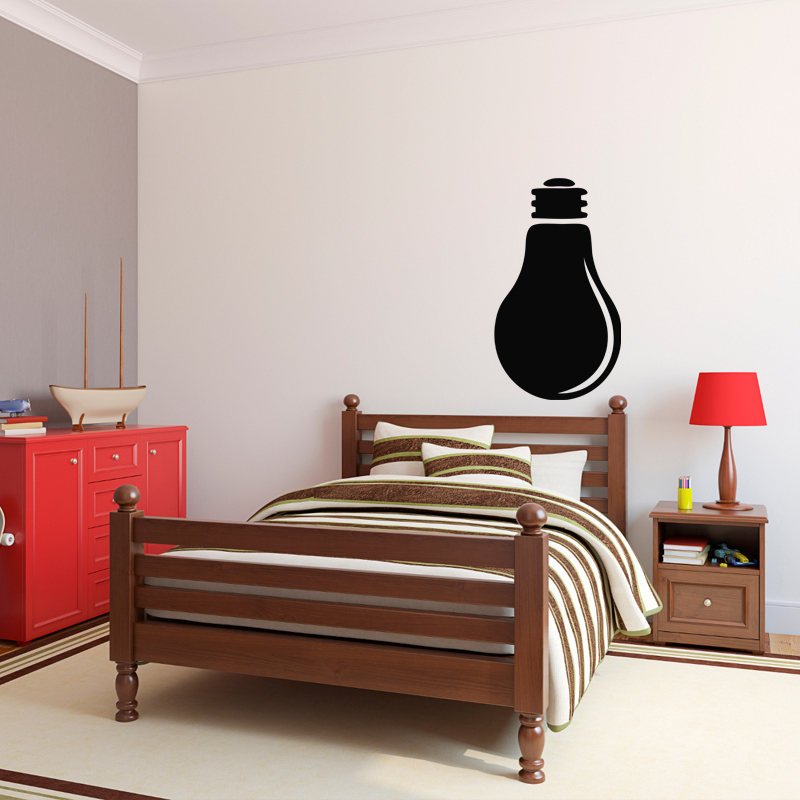 sticker ardoise design ampoule stickers cuisine ambiance sticker. Black Bedroom Furniture Sets. Home Design Ideas