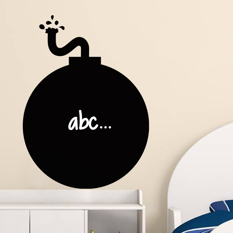 sticker ardoise design bombe stickers salle de jeux. Black Bedroom Furniture Sets. Home Design Ideas