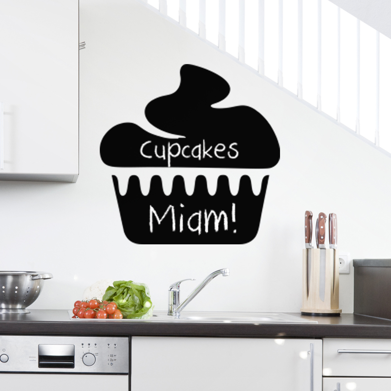 Sticker ardoise design cupcake stickers cuisine for Stickers cuisine design