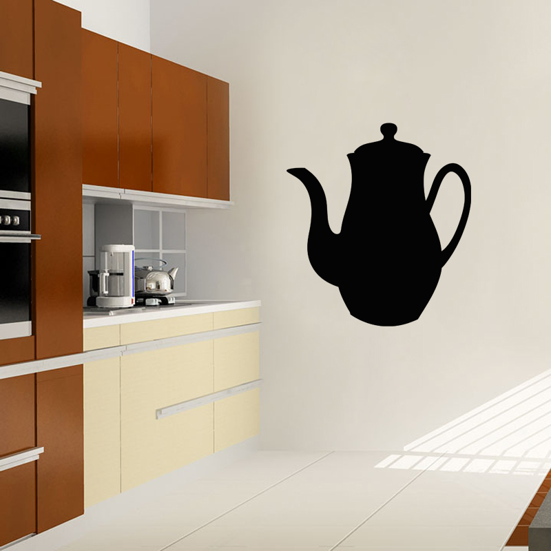 sticker ardoise design th i re stickers cuisine ambiance sticker. Black Bedroom Furniture Sets. Home Design Ideas