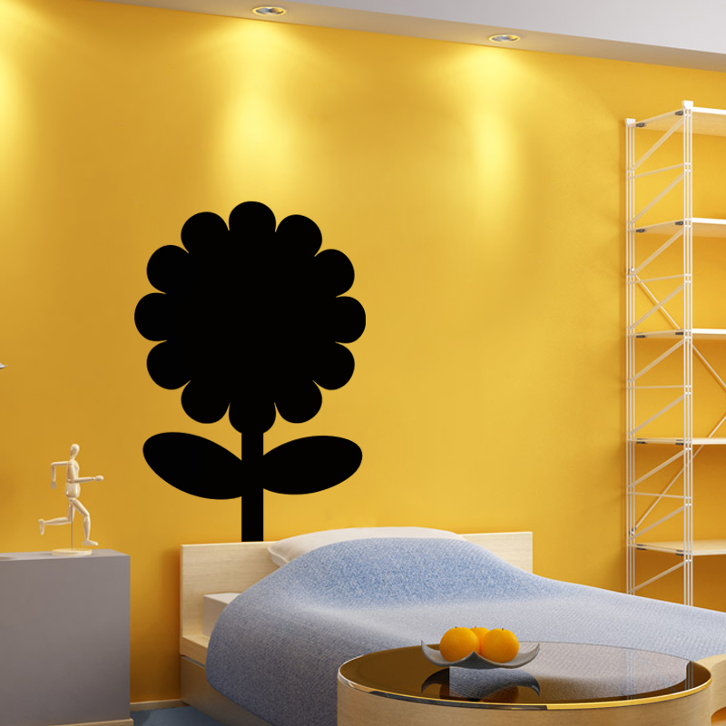 sticker ardoise design tournesol stickers cuisine ambiance sticker. Black Bedroom Furniture Sets. Home Design Ideas