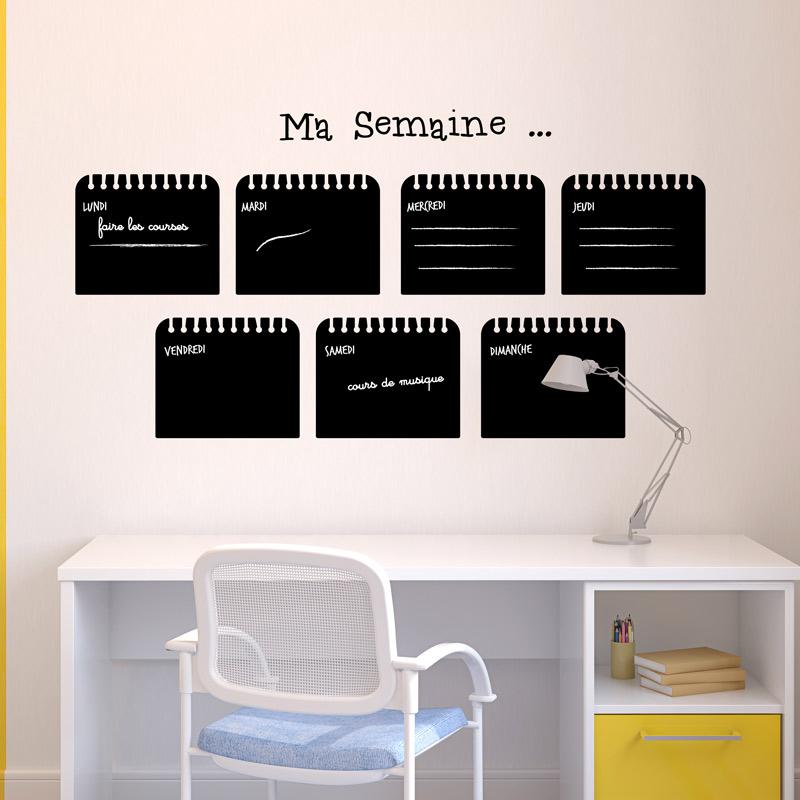 sticker ardoise hebdomadaire cuisine ardoise ambiance sticker. Black Bedroom Furniture Sets. Home Design Ideas