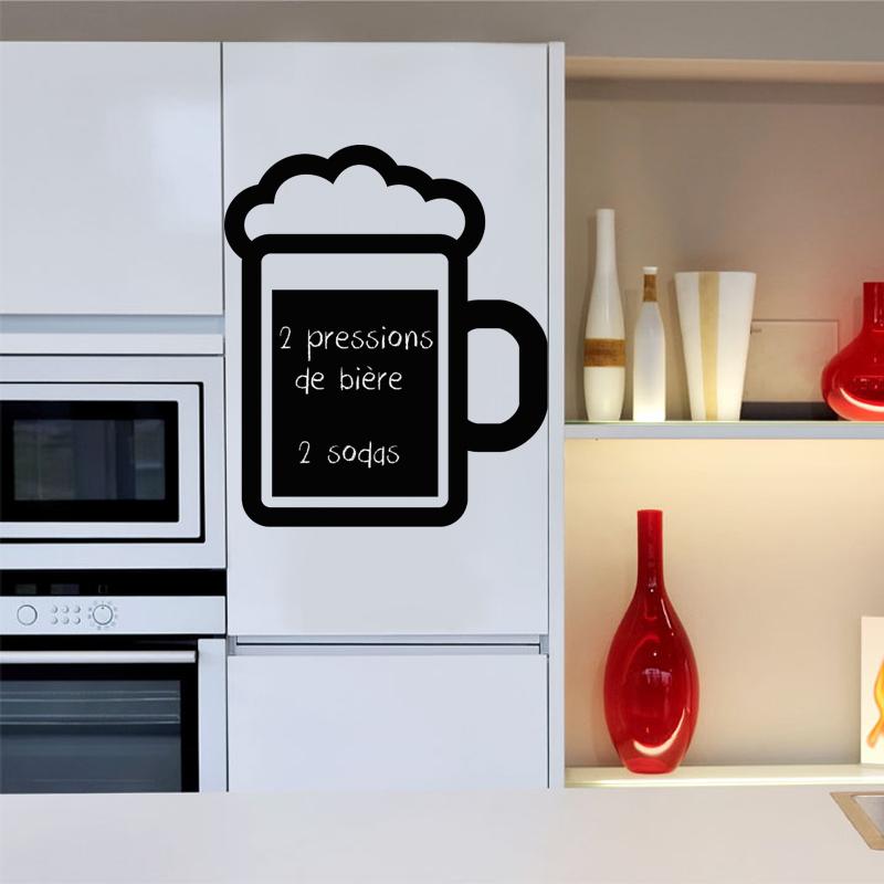 Sticker ardoise mousse de bi re stickers cuisine - Stickers ardoise cuisine ...