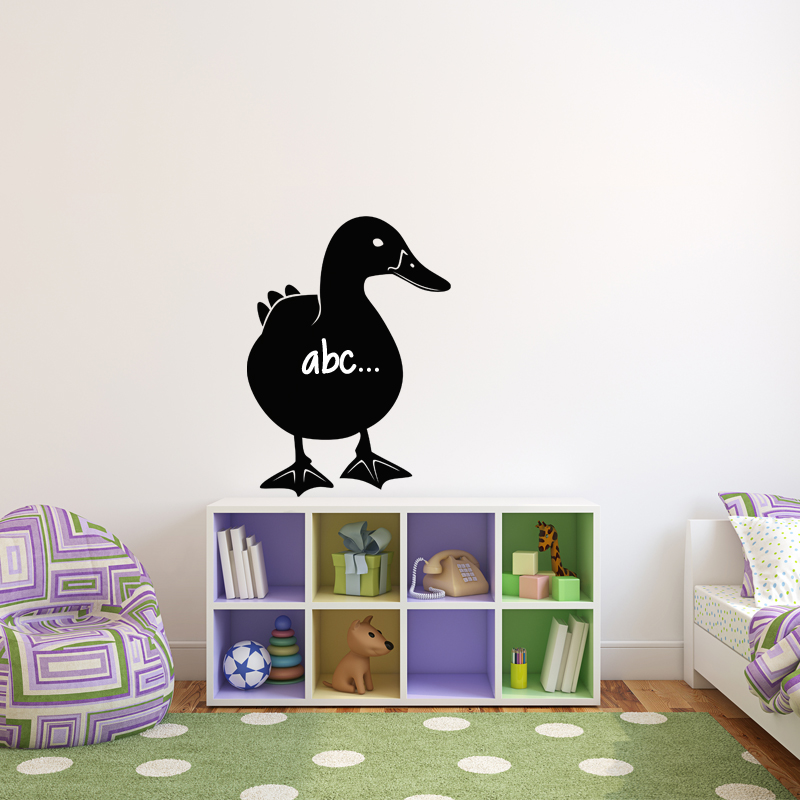 sticker ardoise silhouette canard stickers salle de jeux. Black Bedroom Furniture Sets. Home Design Ideas