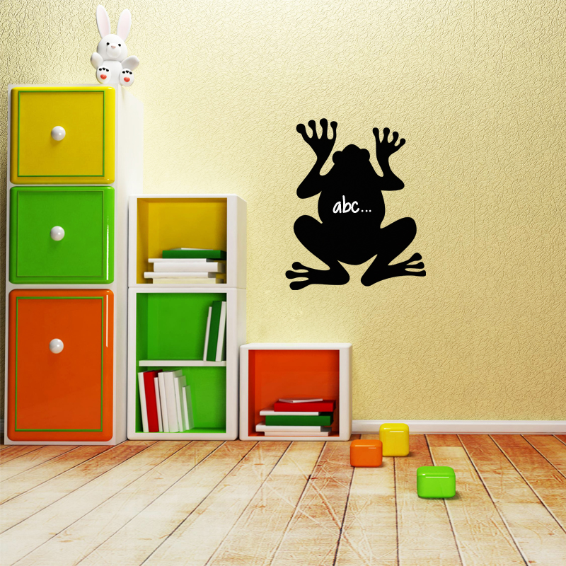 sticker ardoise silhouette grenouille stickers chambre. Black Bedroom Furniture Sets. Home Design Ideas