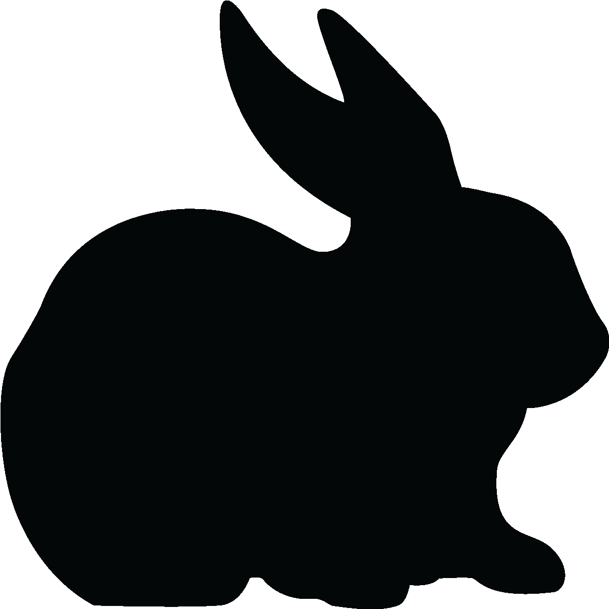 Rabbit Ears Silhouette Stickers tableaux et a...